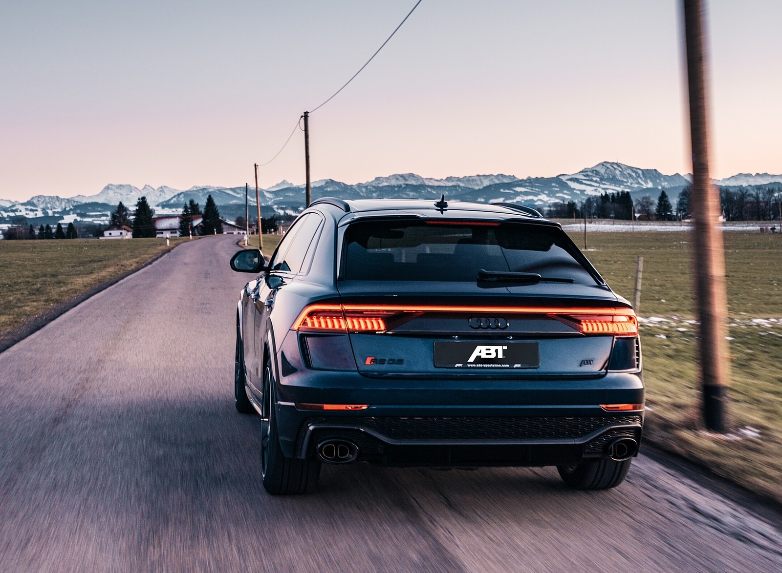 2020 ABT Audi RS Q8 Rear Wallpapers (2)