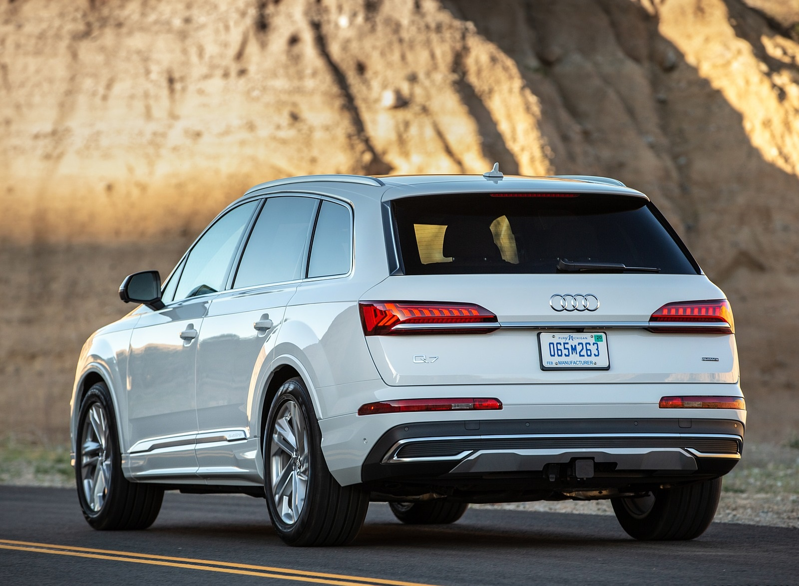 2020 Audi Q7 (US-Spec) Rear Three-Quarter Wallpapers (10)