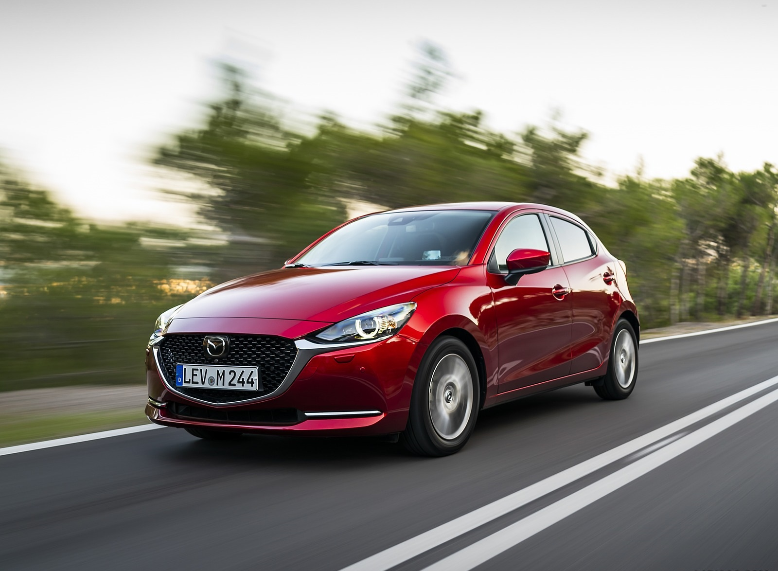 2020 Mazda2 (Color: Red Crystal) Front Three-Quarter Wallpapers (2)