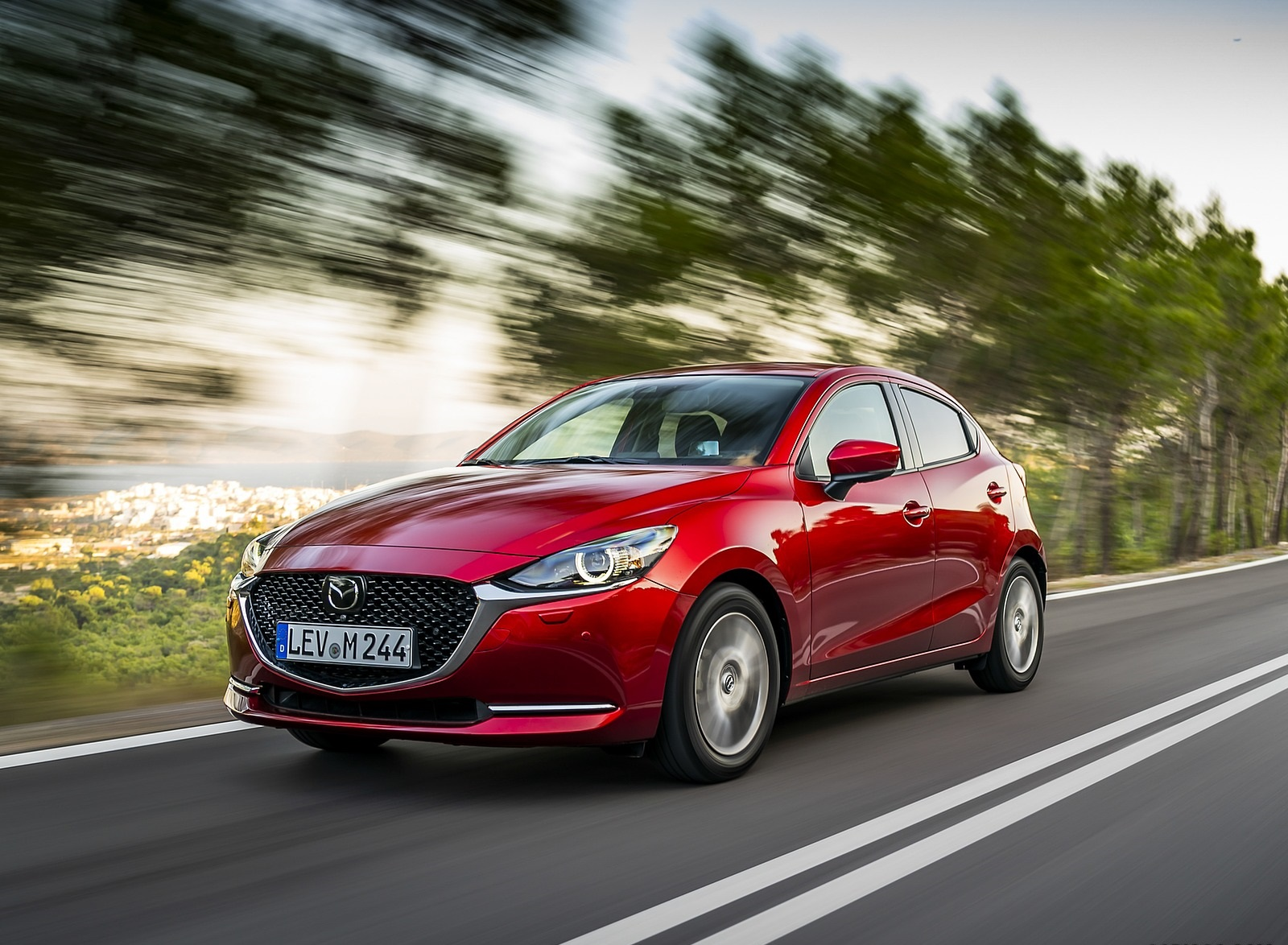 2020 Mazda2 (Color: Red Crystal) Front Three-Quarter Wallpapers (4)