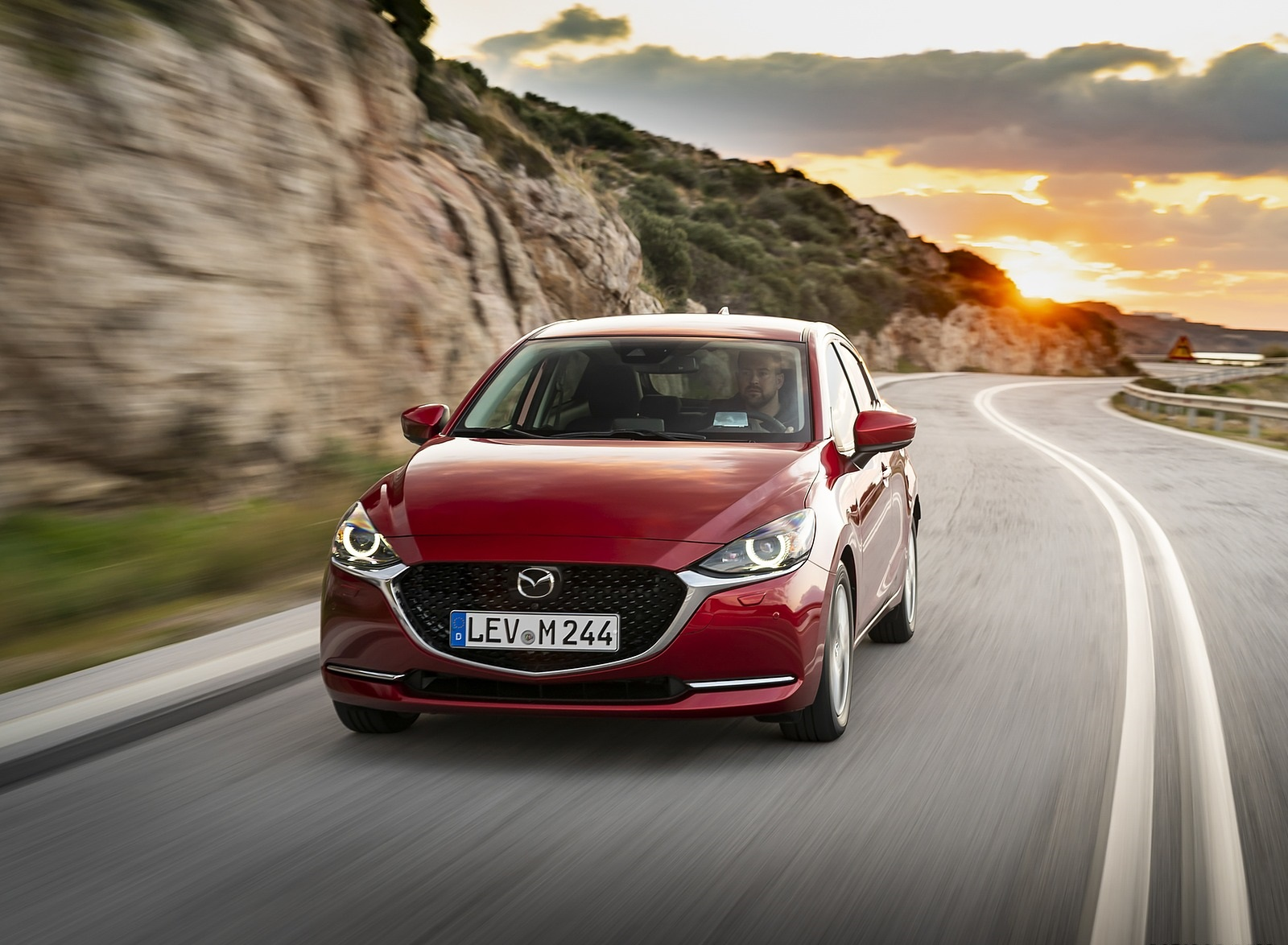 2020 Mazda2 (Color: Red Crystal) Front Wallpapers (1)