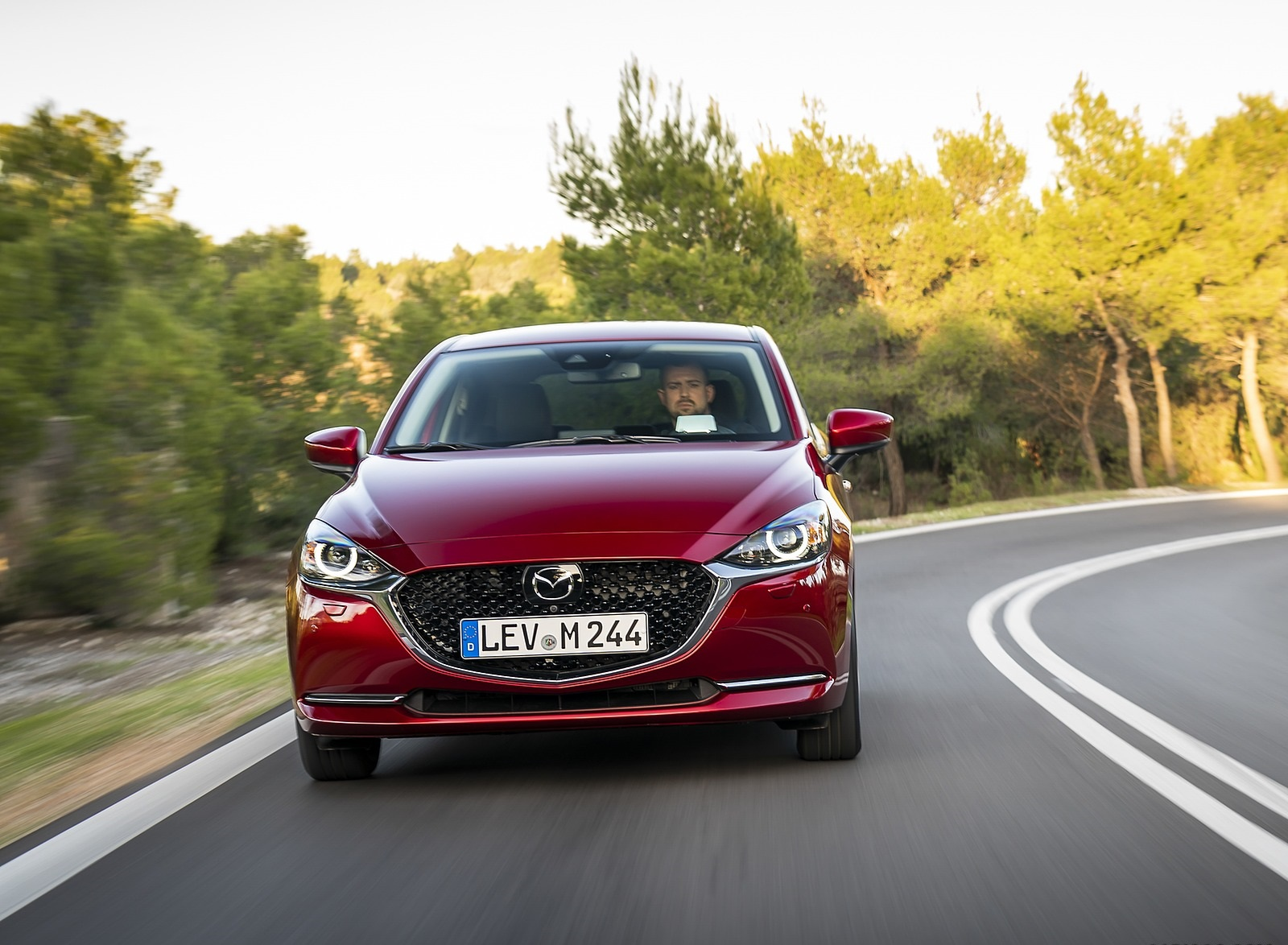 2020 Mazda2 (Color: Red Crystal) Front Wallpapers (10)