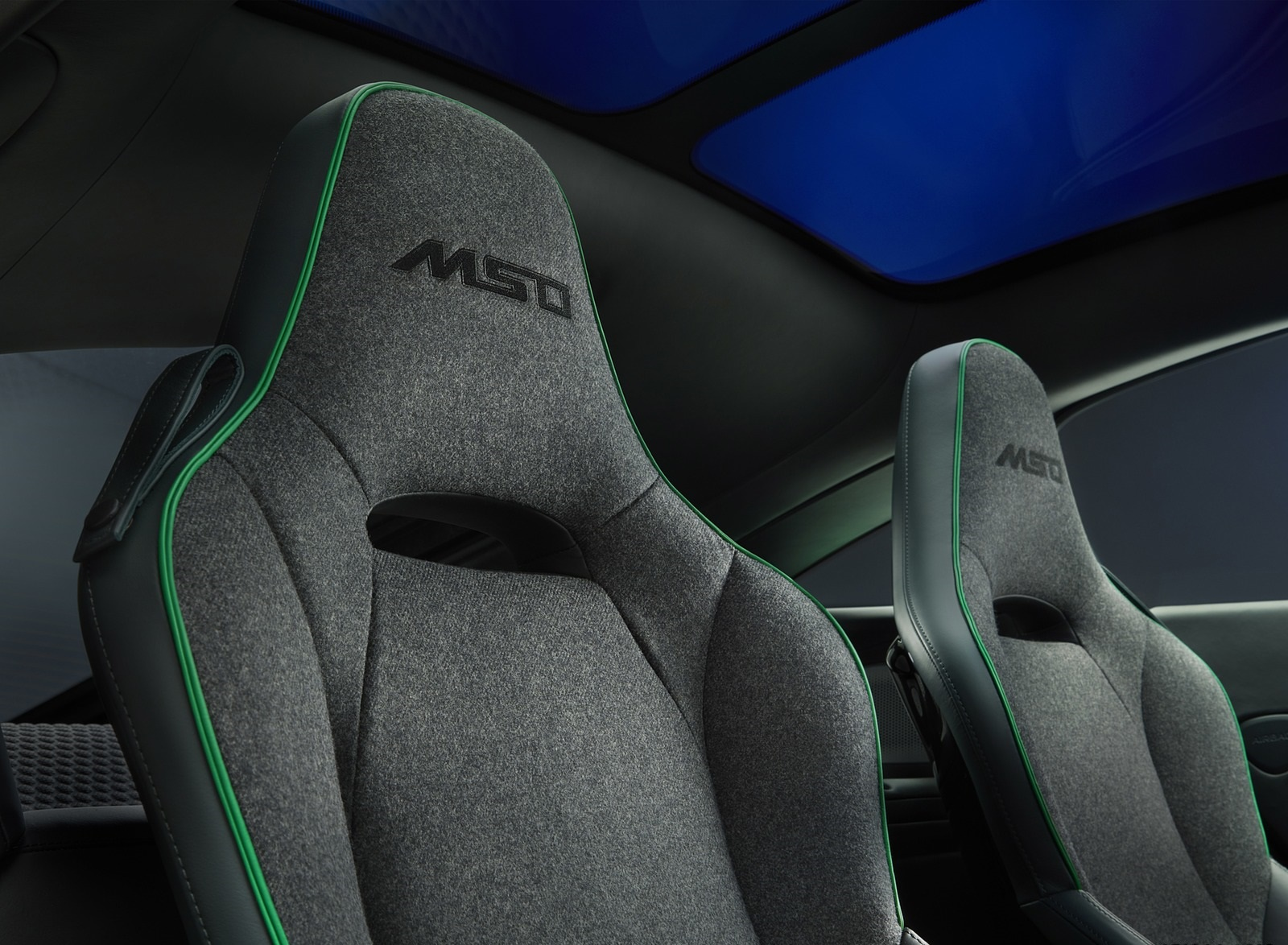 2020 McLaren GT Verdant Theme by MSO Interior Seats Wallpapers (8)