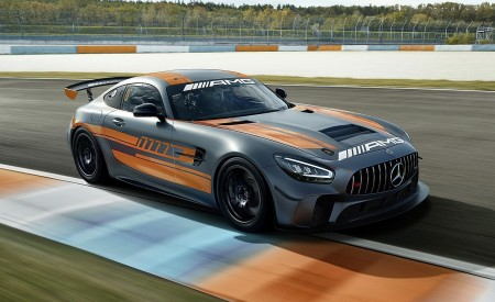 2020 Mercedes-AMG GT4 Front Three-Quarter Wallpapers 450x275 (2)