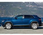 2020 Volkswagen Atlas Cross Sport SE with Technology (Color: Tourmaline Blue) Side Wallpapers 150x120 (13)