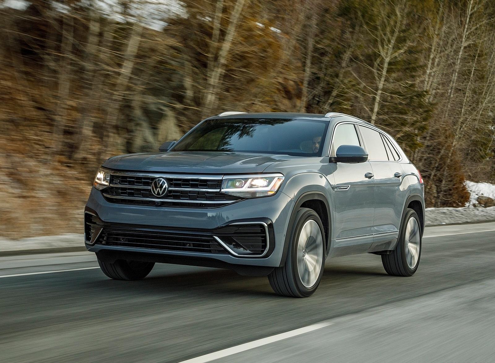 2020 Volkswagen Atlas Cross Sport SEL Premium R Line (Color: Pure Gray) Front Three-Quarter Wallpapers (5)