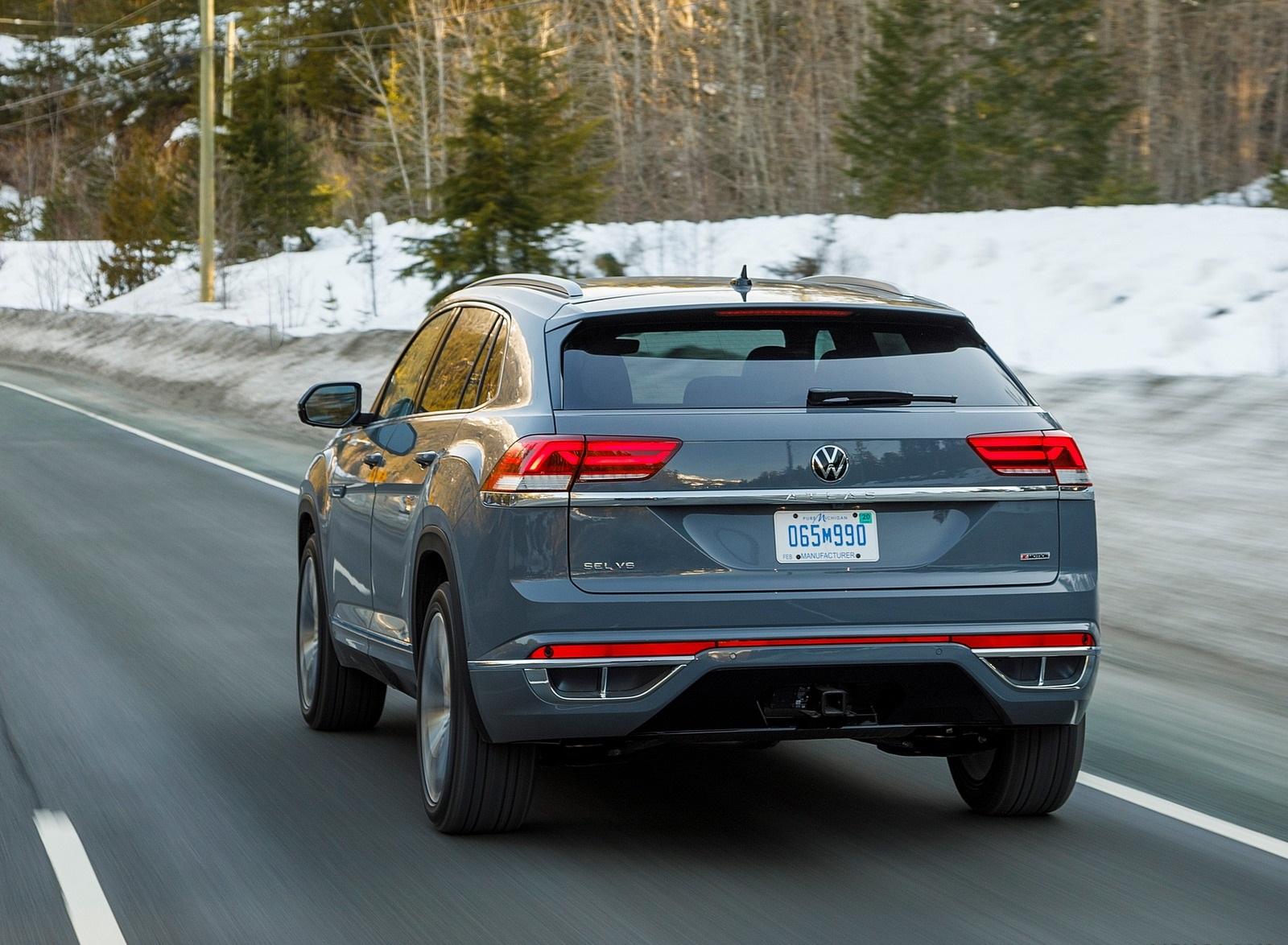 2020 Volkswagen Atlas Cross Sport SEL Premium R Line (Color: Pure Gray) Rear Three-Quarter Wallpapers (7)
