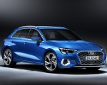 2021 Audi A3 Sportback (Color: Atoll Blue) Front Three-Quarter Wallpapers 150x120 (12)