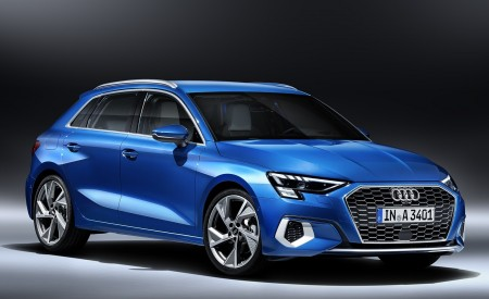 2021 Audi A3 Sportback (Color: Atoll Blue) Front Three-Quarter Wallpapers 450x275 (81)