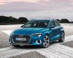 2021 Audi A3 Sportback (Color: Atoll Blue) Front Three-Quarter Wallpapers 150x120 (5)
