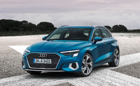 2021 Audi A3 Sportback (Color: Atoll Blue) Front Three-Quarter Wallpapers 450x275 (74)