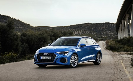 2021 Audi A3 Sportback (Color: Atoll Blue) Front Three-Quarter Wallpapers 450x275 (56)