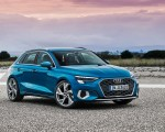 2021 Audi A3 Sportback (Color: Atoll Blue) Front Three-Quarter Wallpapers 150x120 (6)
