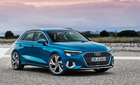 2021 Audi A3 Sportback (Color: Atoll Blue) Front Three-Quarter Wallpapers 450x275 (75)