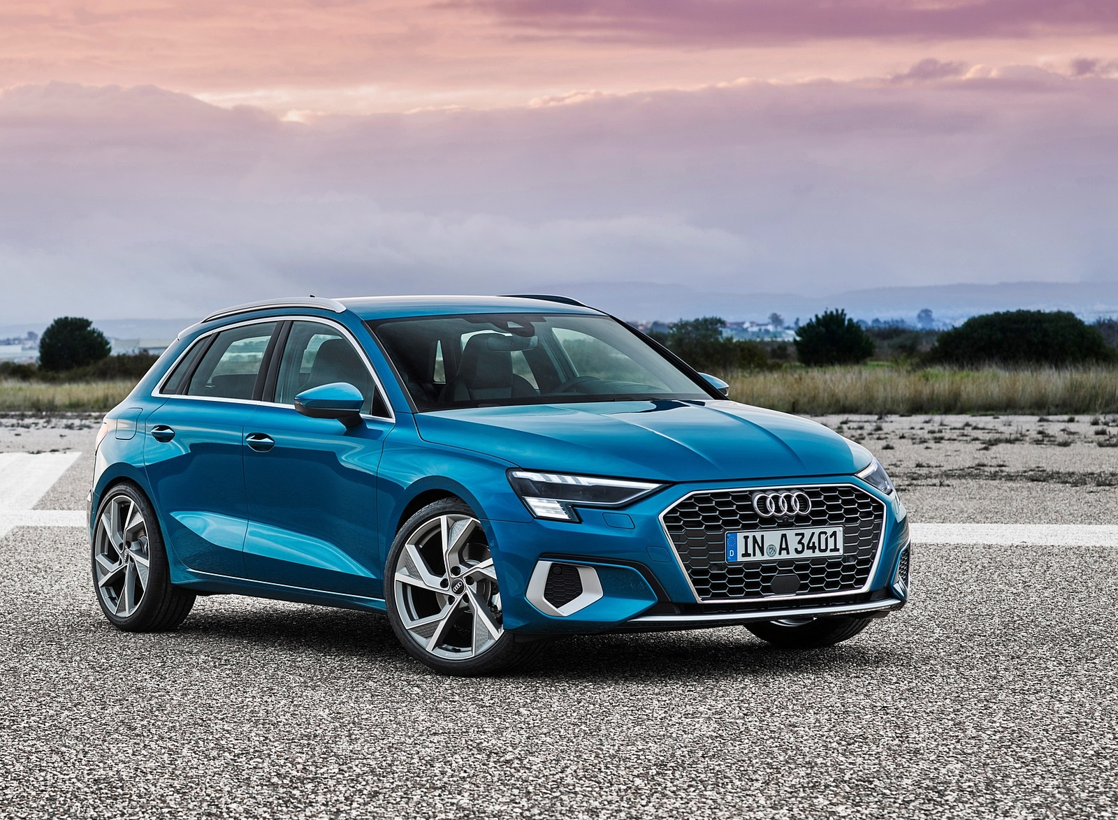 2021 Audi A3 Sportback (Color: Atoll Blue) Front Three-Quarter Wallpapers (6)