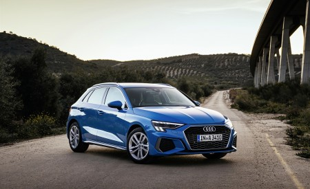 2021 Audi A3 Sportback (Color: Atoll Blue) Front Three-Quarter Wallpapers 450x275 (57)