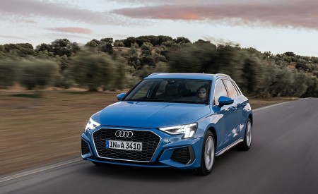2021 Audi A3 Sportback (Color: Atoll Blue) Front Three-Quarter Wallpapers 450x275 (43)