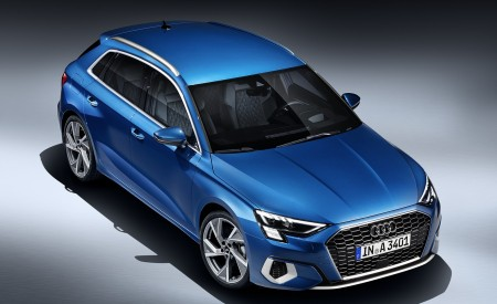 2021 Audi A3 Sportback (Color: Atoll Blue) Front Three-Quarter Wallpapers 450x275 (82)