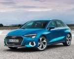 2021 Audi A3 Sportback (Color: Atoll Blue) Front Three-Quarter Wallpapers 150x120 (7)