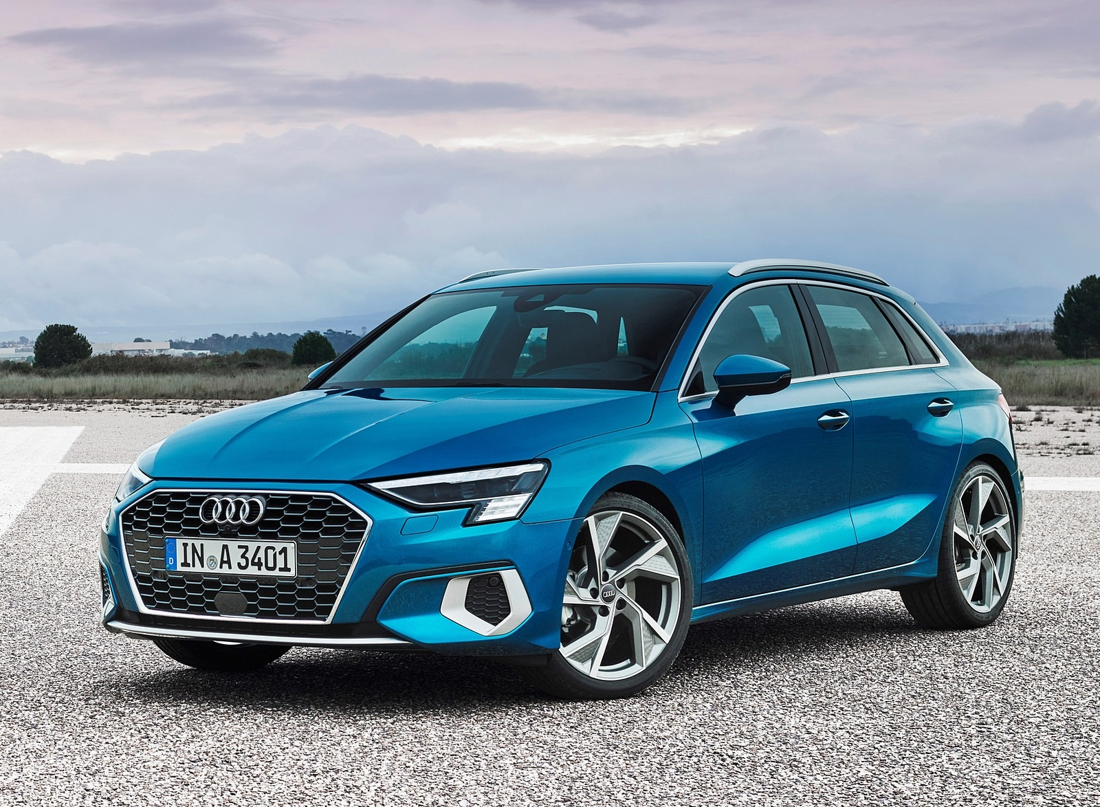 2021 Audi A3 Sportback (Color: Atoll Blue) Front Three-Quarter Wallpapers (7)