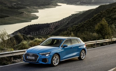 2021 Audi A3 Sportback (Color: Atoll Blue) Front Three-Quarter Wallpapers 450x275 (54)