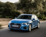 2021 Audi A3 Sportback (Color: Atoll Blue) Front Three-Quarter Wallpapers 150x120 (45)