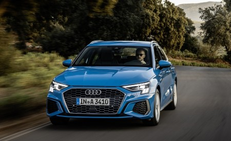 2021 Audi A3 Sportback (Color: Atoll Blue) Front Wallpapers 450x275 (46)