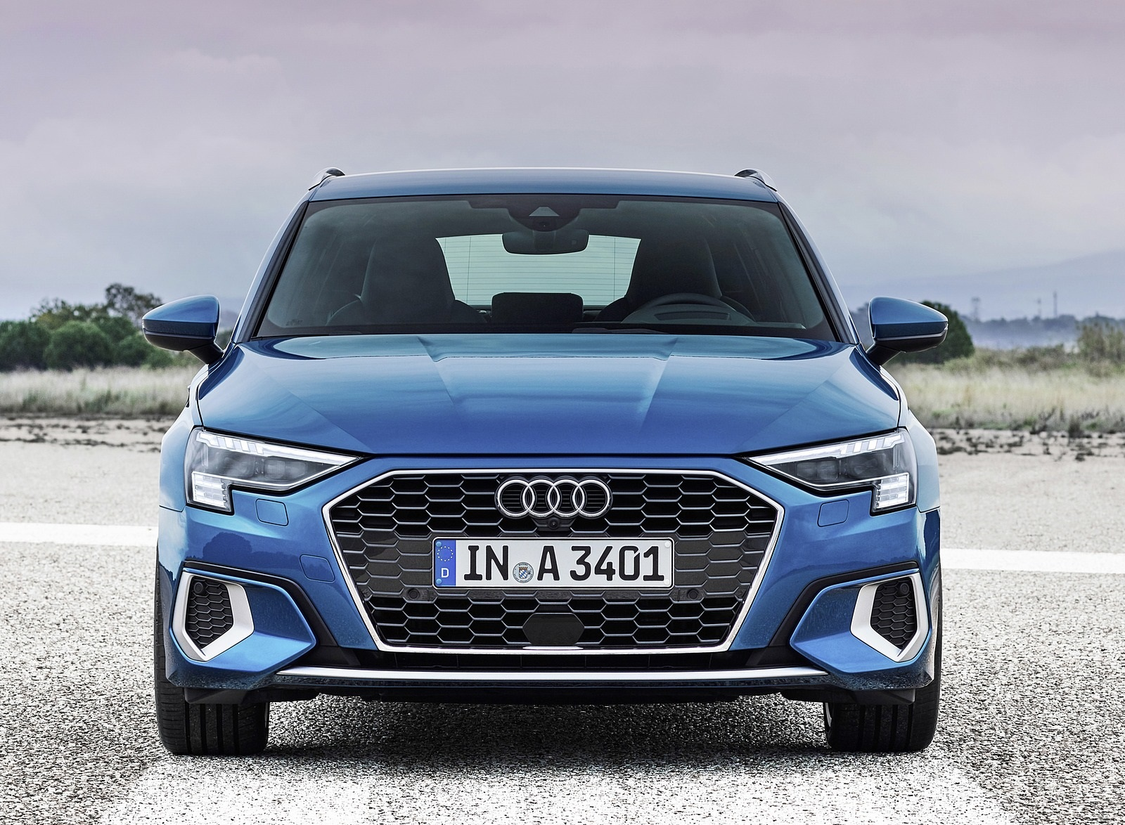2021 Audi A3 Sportback (Color: Atoll Blue) Front Wallpapers (8)