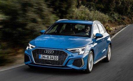 2021 Audi A3 Sportback (Color: Atoll Blue) Front Wallpapers 450x275 (48)