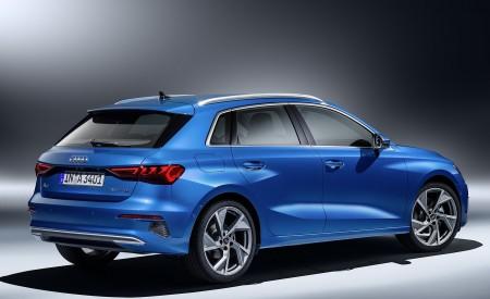 2021 Audi A3 Sportback (Color: Atoll Blue) Rear Three-Quarter Wallpapers 450x275 (84)