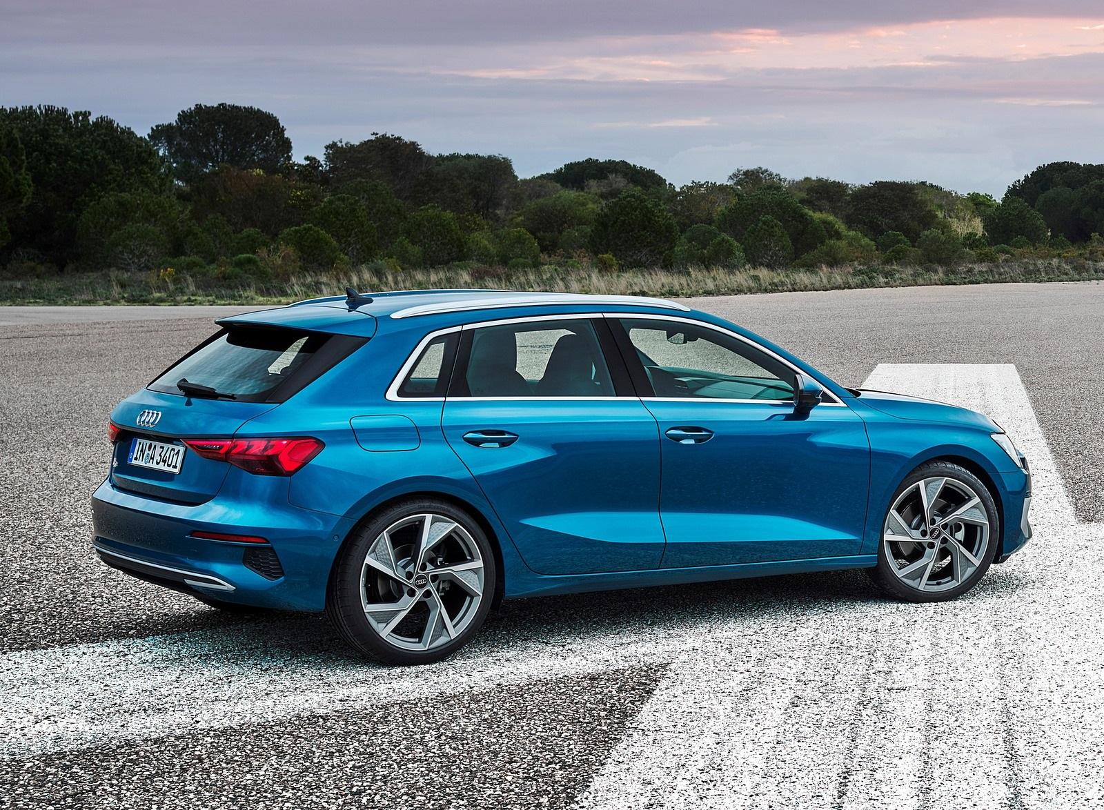 2021 Audi A3 Sportback (Color: Atoll Blue) Rear Three-Quarter Wallpapers (9)