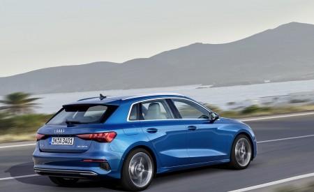 2021 Audi A3 Sportback (Color: Atoll Blue) Rear Three-Quarter Wallpapers 450x275 (71)