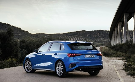 2021 Audi A3 Sportback (Color: Atoll Blue) Rear Three-Quarter Wallpapers 450x275 (60)