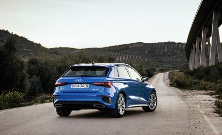 2021 Audi A3 Sportback (Color: Atoll Blue) Rear Three-Quarter Wallpapers 450x275 (61)