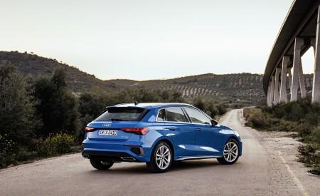 2021 Audi A3 Sportback (Color: Atoll Blue) Rear Three-Quarter Wallpapers 450x275 (62)