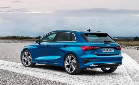2021 Audi A3 Sportback (Color: Atoll Blue) Rear Three-Quarter Wallpapers 450x275 (79)