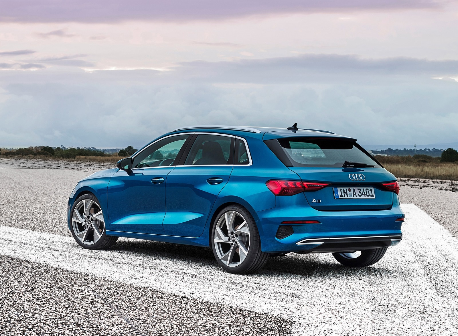 2021 Audi A3 Sportback (Color: Atoll Blue) Rear Three-Quarter Wallpapers (10)
