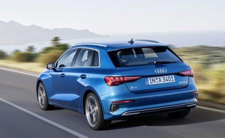 2021 Audi A3 Sportback (Color: Atoll Blue) Rear Three-Quarter Wallpapers 450x275 (72)