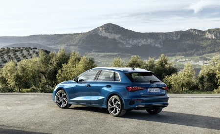 2021 Audi A3 Sportback (Color: Atoll Blue) Rear Three-Quarter Wallpapers 450x275 (64)