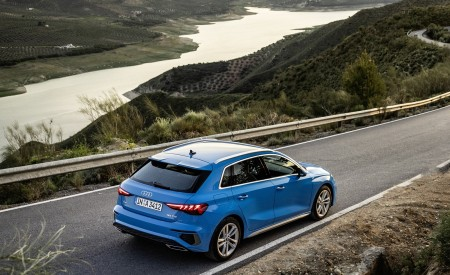 2021 Audi A3 Sportback (Color: Atoll Blue) Rear Three-Quarter Wallpapers 450x275 (55)