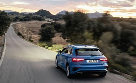 2021 Audi A3 Sportback (Color: Atoll Blue) Rear Wallpapers 450x275 (49)