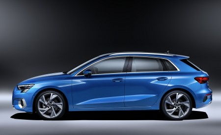2021 Audi A3 Sportback (Color: Atoll Blue) Side Wallpapers 450x275 (86)