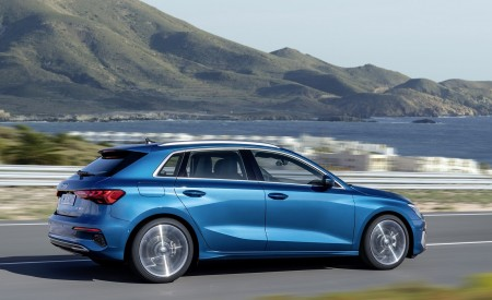 2021 Audi A3 Sportback (Color: Atoll Blue) Side Wallpapers 450x275 (73)