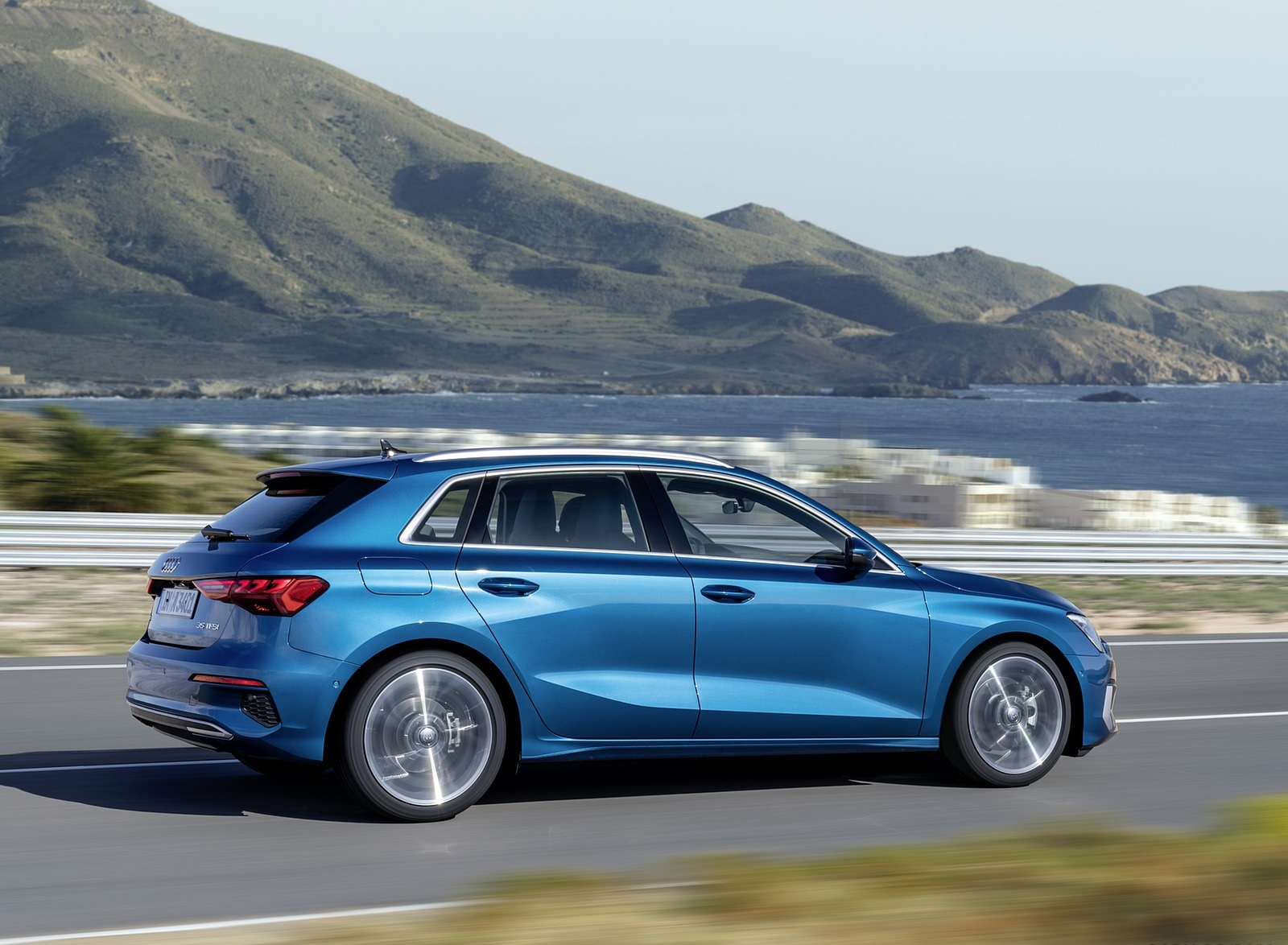 2021 Audi A3 Sportback (Color: Atoll Blue) Side Wallpapers (4)