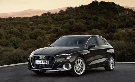2021 Audi A3 Sportback (Color: Manhattan Gray) Front Three-Quarter Wallpapers 450x275 (38)