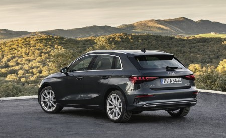 2021 Audi A3 Sportback (Color: Manhattan Gray) Rear Three-Quarter Wallpapers 450x275 (39)
