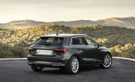 2021 Audi A3 Sportback (Color: Manhattan Gray) Rear Three-Quarter Wallpapers 450x275 (40)