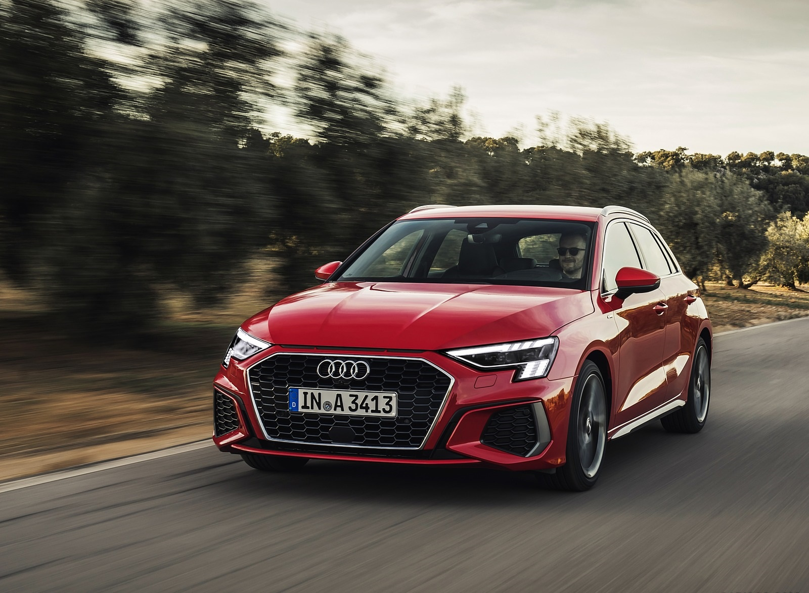 2021 Audi A3 Sportback (Color: Tango Red) Front Three-Quarter Wallpapers (1)
