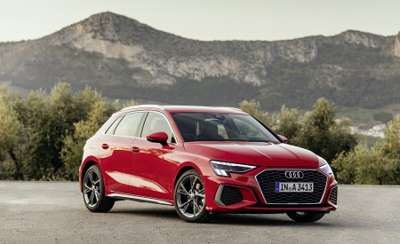 2021 Audi A3 Sportback (Color: Tango Red) Front Three-Quarter Wallpapers 450x275 (5)