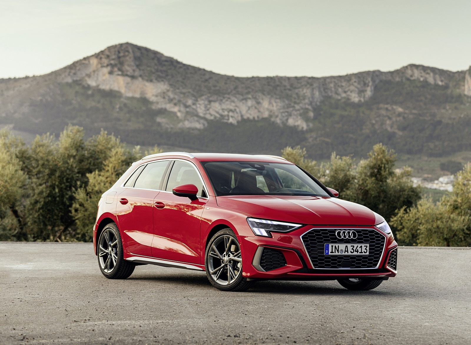 2021 Audi A3 Sportback (Color: Tango Red) Front Three-Quarter Wallpapers (5)